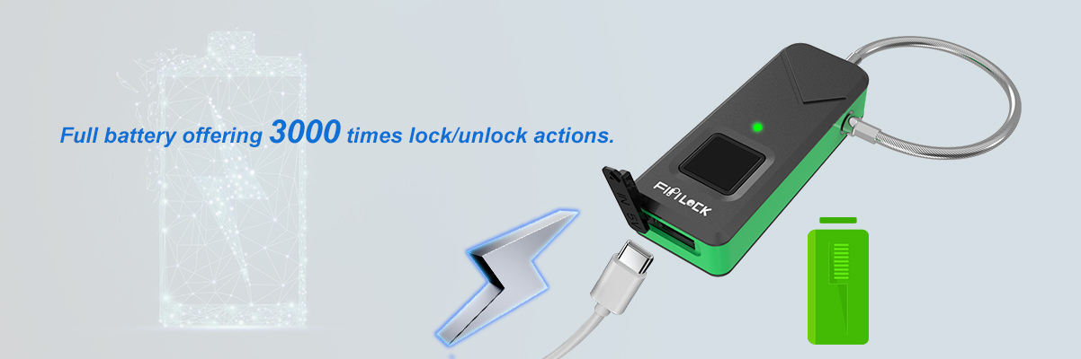 fingerprint scanner padlock