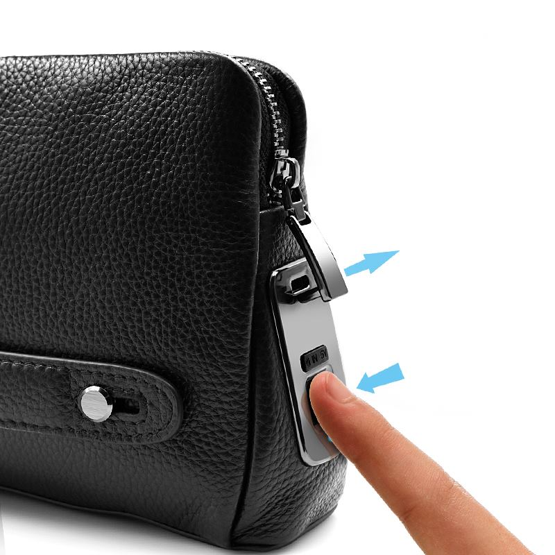 Fingerprint Genuine Leather Hand bag