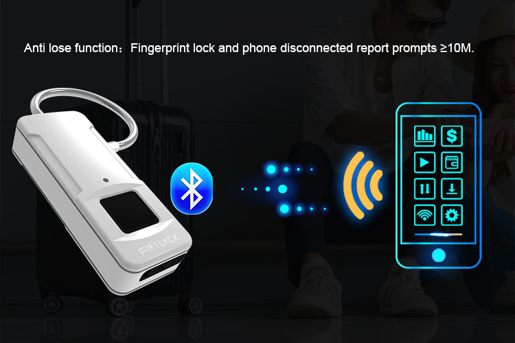 Bluetooth Smart Fingerprint Padlock is the perfect connected device to keep your belongingssecure.